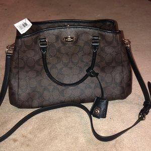 NWT Coach Margot Carryall 2 way signature handbag